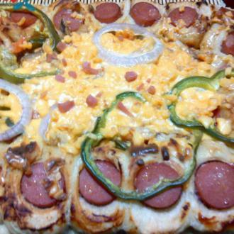 秀珍菇虾仁披萨