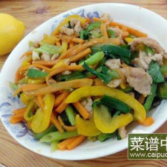 瘦肉炒彩椒