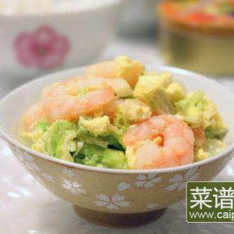 蛋卧虾仁白菜