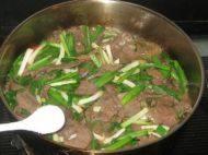 青蒜炒羊肝的做法步骤7