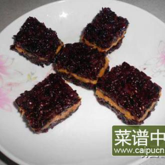 紫米地瓜糕