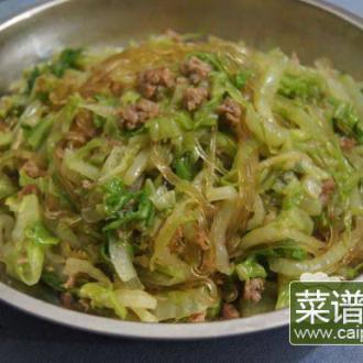 肉末白菜炒旱藕粉丝