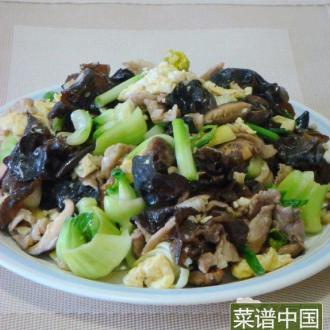 香菇木耳炒肉片