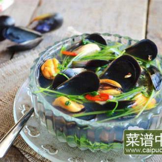 海虹豆苗汤