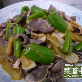 洋姜刀豆炒鸭肾