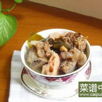 莲藕海带牛肋骨汤