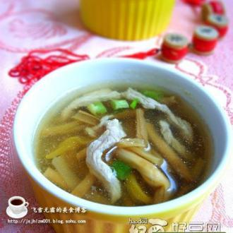 肉丝金针汤