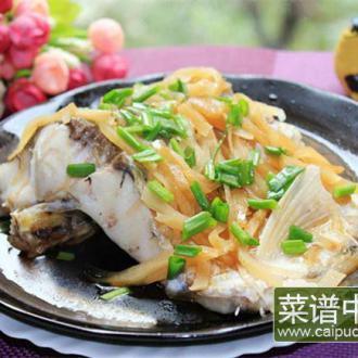 冲菜蒸鲩鱼