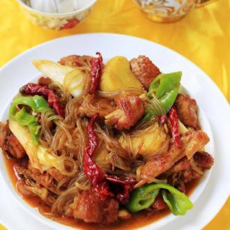 新疆粉条大盘鸡