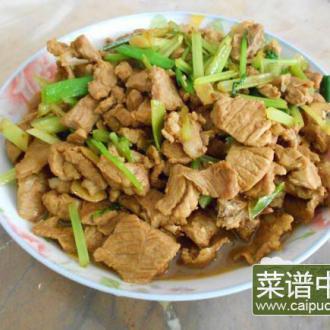 香芹炒排骨肉