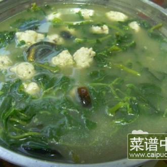 野苋菜皮蛋汤