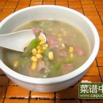 黄豆肉片水瓜汤