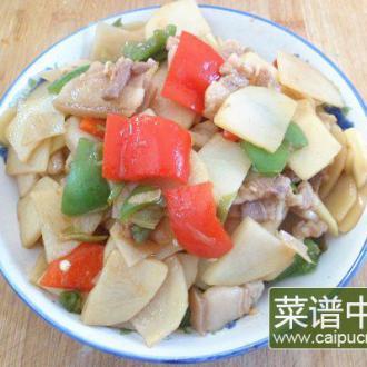 土豆辣椒炒肉片
