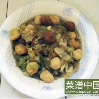 白菜丸子炖粉条