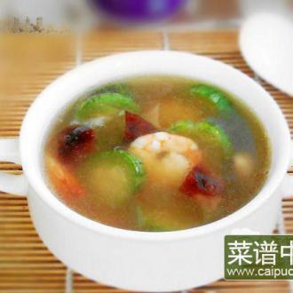 鲜虾冬菇水瓜汤