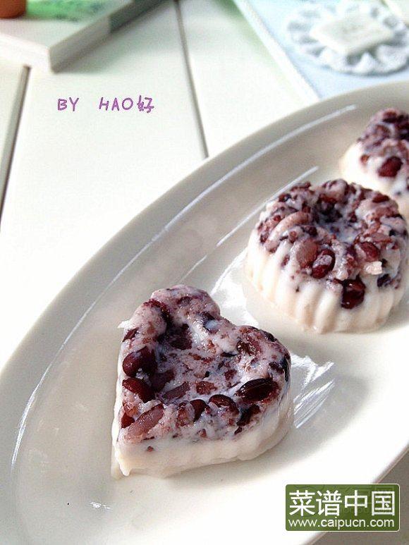 黑米薏仁奶冻