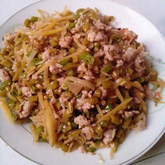 开胃肉末炒酸菜