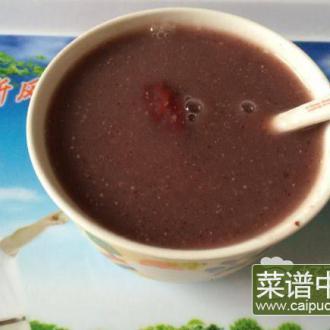 薏仁红豆黑米糊