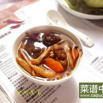 黄花菜木耳咸骨汤