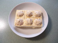XO酱浇汁鱼滑酿豆腐的做法步骤4