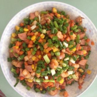 杂菜炒虾仁