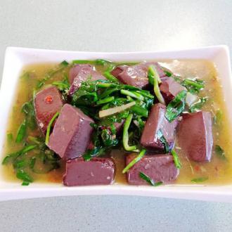 XO酱韭菜烩猪红