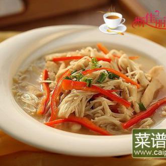 金针菇炒鸡丝