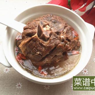 白萝卜炖羊劲片