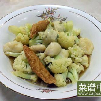 三鲜花菜汤