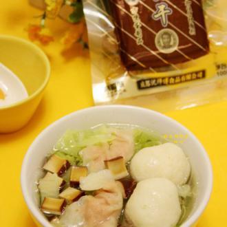 鸡蛋干鱼丸鱼饺汤#沈