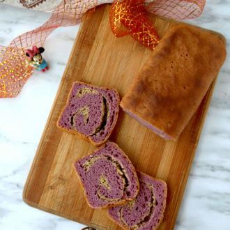 花生酱香蕉紫薯小土司