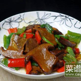 青蒜炒黑牛肝菌
