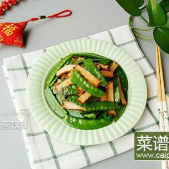 黄陂熏干炒荷兰豆
