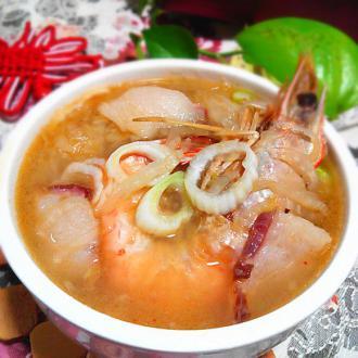 酸菜虾汤#非转基因金
