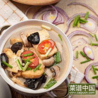 口菇烩豆腐