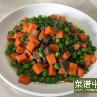 胡萝卜炒青豆