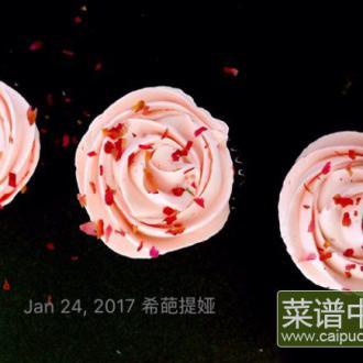 玫瑰蔓越莓纸杯蛋糕