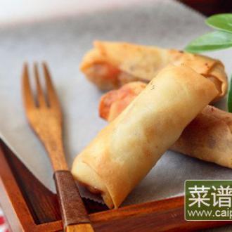 鲜虾韭黄春卷