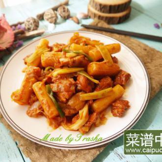 韩式辣炒鸡年糕