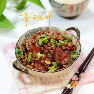 土家豆豉炒香肠
