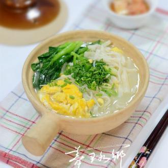 青菜鸡蛋煮豆丝