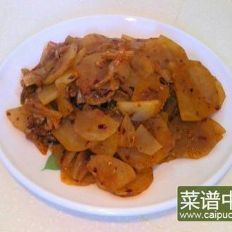 韩式泡菜炒土豆片