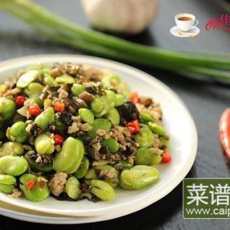 肉末雪菜炒蚕豆米#本