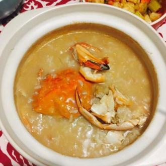 干贝虾蟹粥