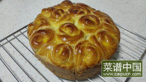 玫瑰豆沙面包