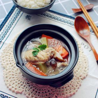 微波冬菇鸡汤