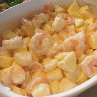苹果大虾沙拉