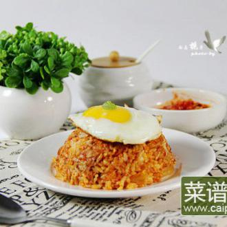 韩式金枪鱼辣白菜炒饭