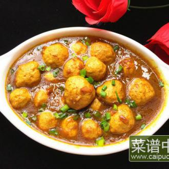 咖喱猪肉丸