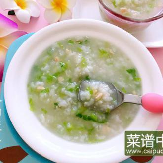 绿豆芽生菜瘦肉粥